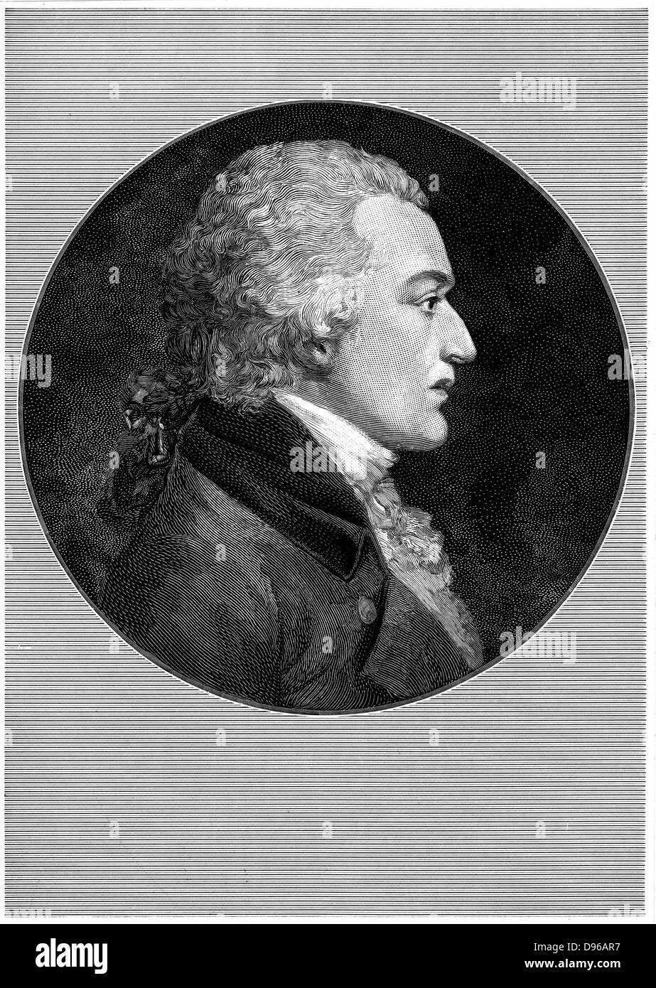 Benjamin Smith Barton (1766-1815) American physician and naturalist; professor of natural history and botany Philadelphia - Stock Image