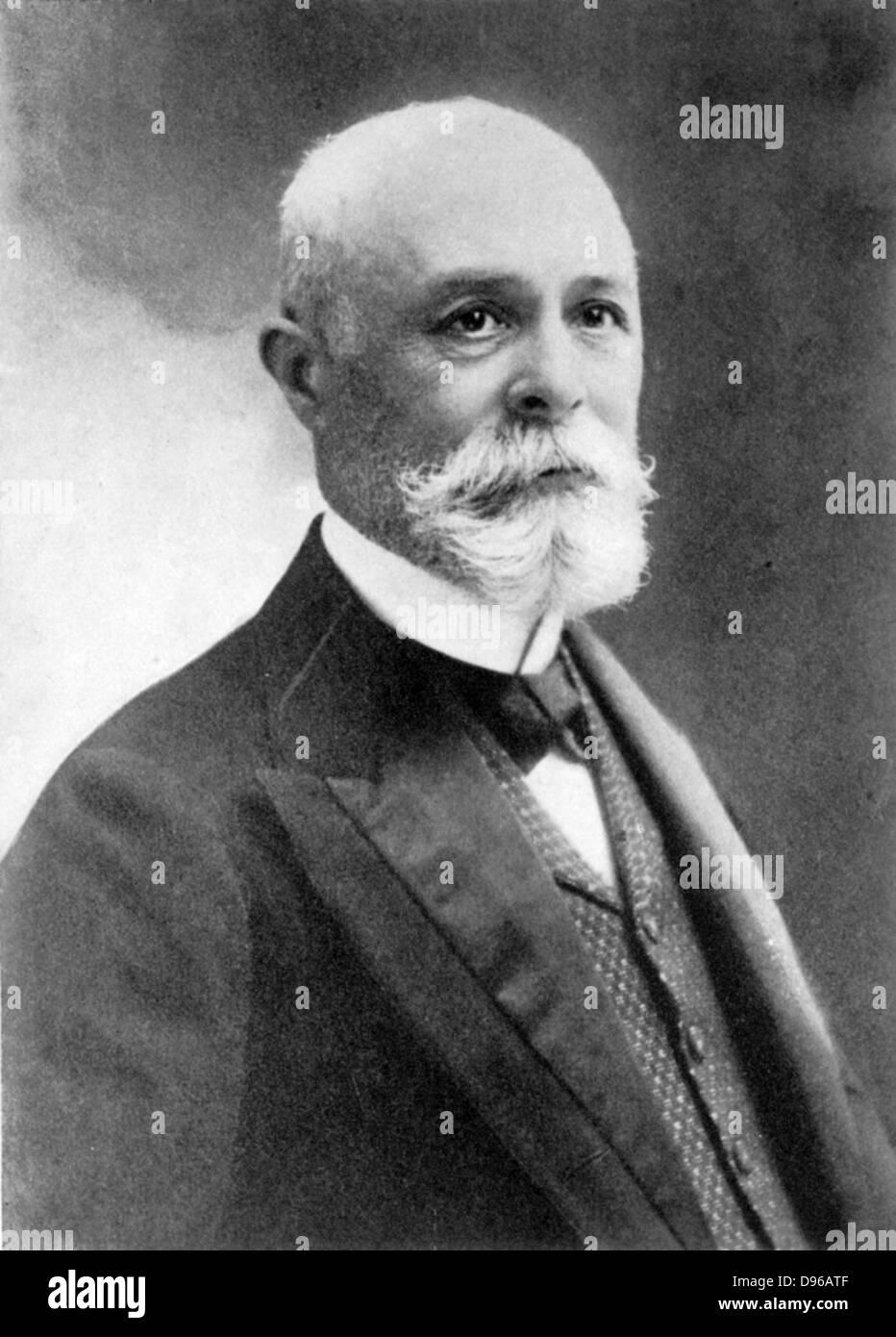 (Antoine) Henri Becquerel (1852-1908) French physicist; Fluorescence: Radioactivity; shared 1903 Nobel prize for - Stock Image
