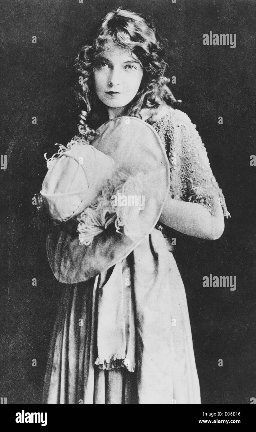 Lillian Gish (1896-1993) American stage, silent and talkie actress. Still from the film 'The Wedding', 1912. - Stock Image