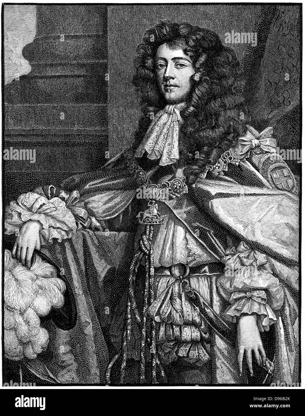 James, Duke of Monmouth (1649-1685) illegitimate son of Charles II and Lucy Walter. Pretender to the thrones of - Stock Image