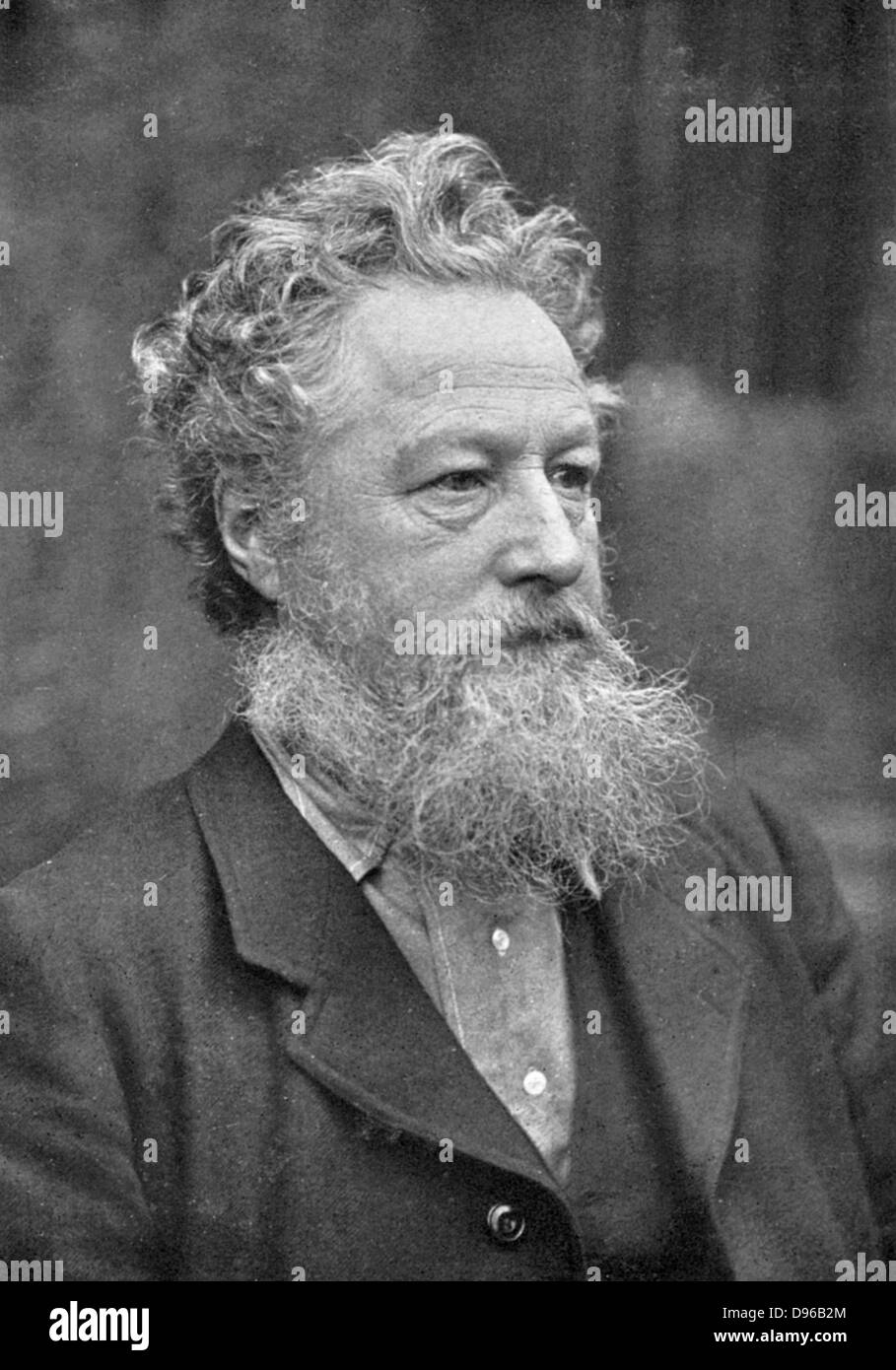 William Morris (1834-1896) English socialist, craftsman and poet. Arts and Crafts Movement. - Stock Image
