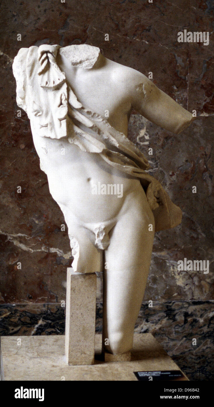 Greek statue: male torso. 5th century BC - Stock Image