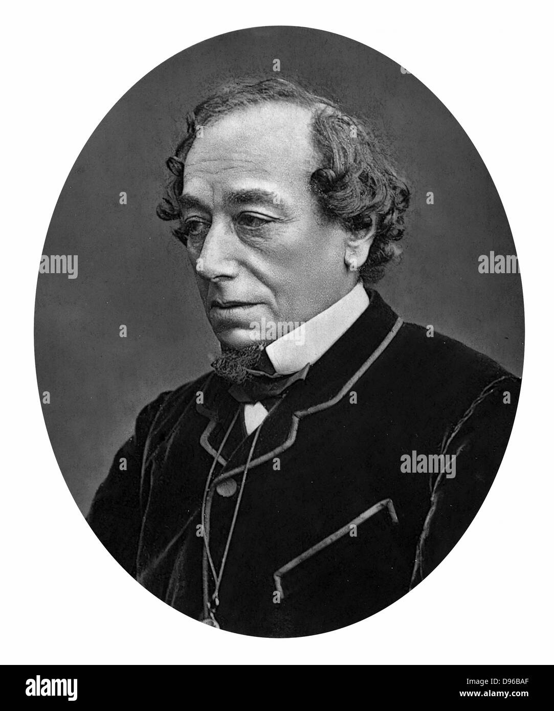 Benjamin Disraeli, 1st Earl of Beaconsfield (1804-1881) British Conservative statesman. Photograph published London - Stock Image