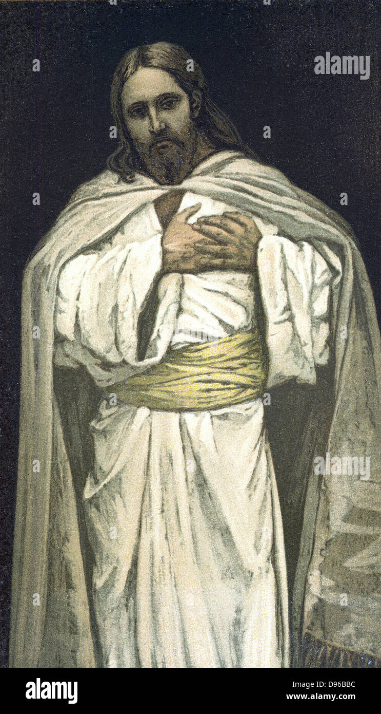 Our Lord Jesus Christ.   Illustration by J.J.Tissot for his 'Life of Our Saviour Jesus Christ', 1897. Oleograph. - Stock Image