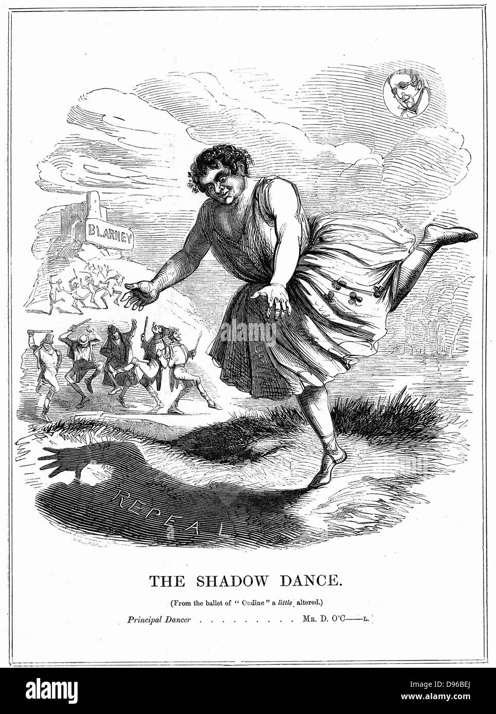 The Shadow Dance' Daniel O'Connell (1775-1847) 'The Liberator', Irish politician, leader of the - Stock Image