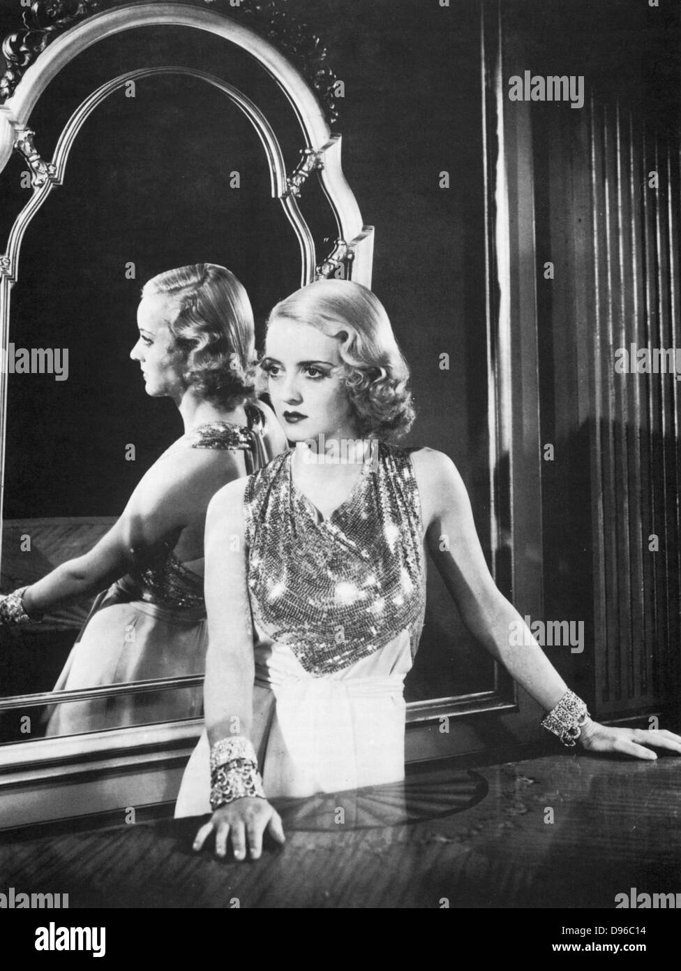 Bette Davis (1908-1989) as an infatuated 'flapper' in 'The Rich Are Always With Us', 1932 - Stock Image