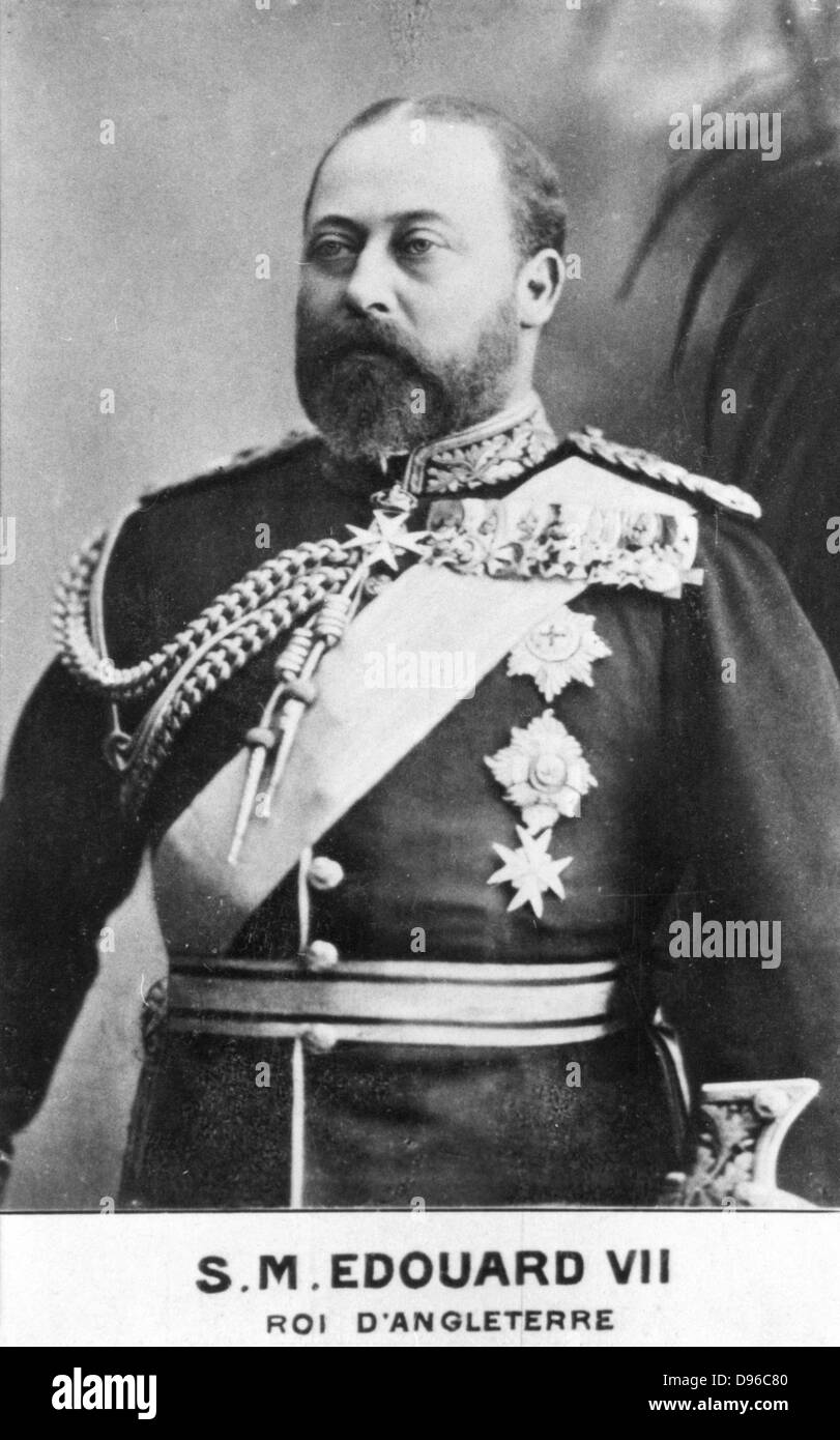 Edward VII (1841-1910) king of Great Britain from 1901. Eldest son of Queen Victoria. Photograph. Woodburytype. - Stock Image