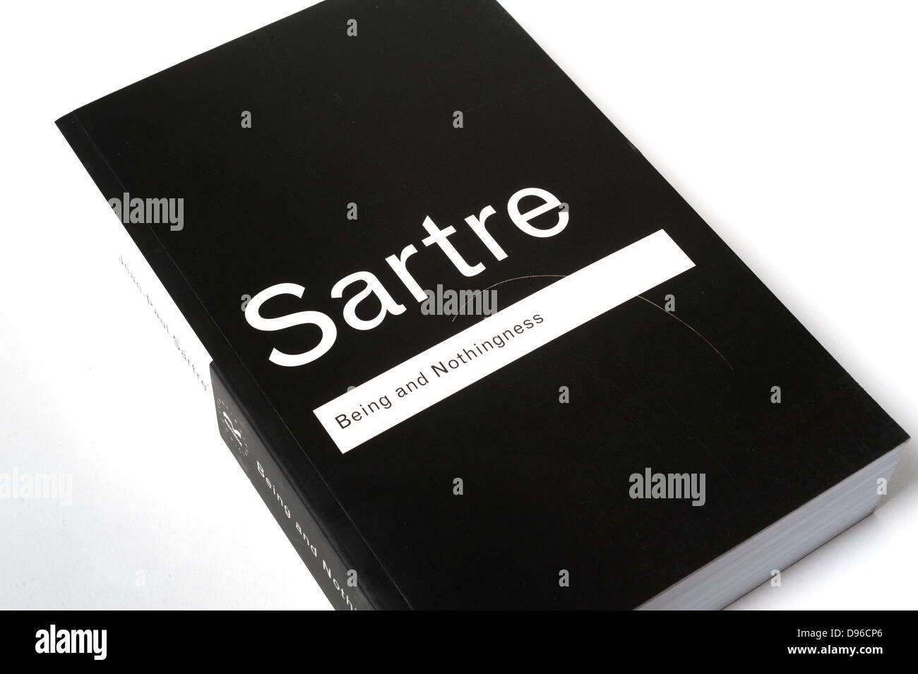 'Being And Nothingness', a 1943 book by philosopher Jean-Paul Sartre. - Stock Image