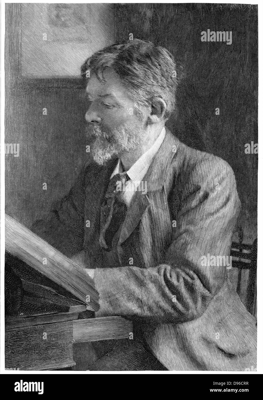 George Du Maurier (1834-1896) French-born English illustrator, cartoonist and novelist. Father of actor-manager - Stock Image