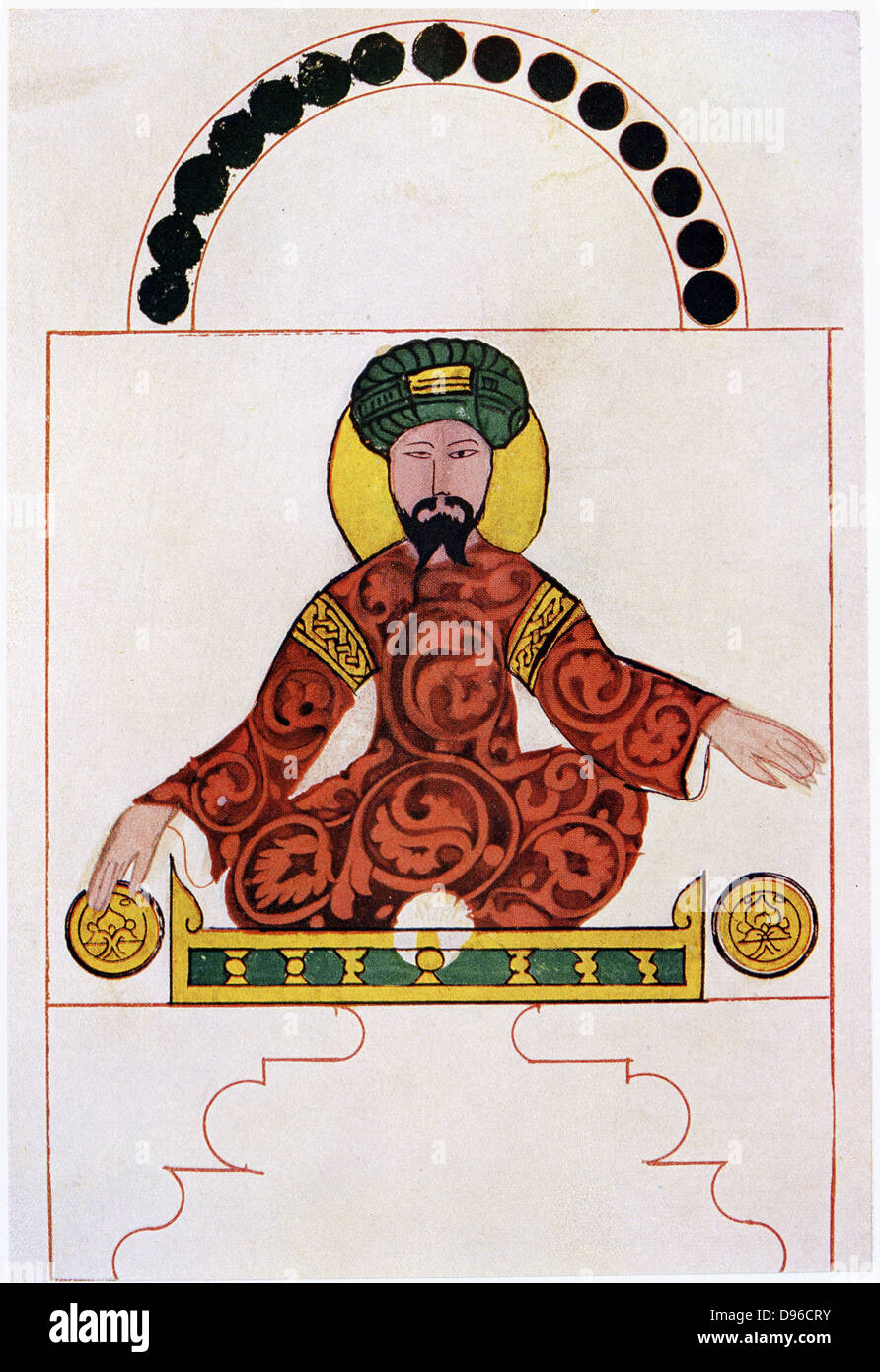 Saladin (Salah al-Din al-Ayyubi) 1137-93. After a contemporary miniature c1180. Sultan of Egypt and Syria, leader - Stock Image