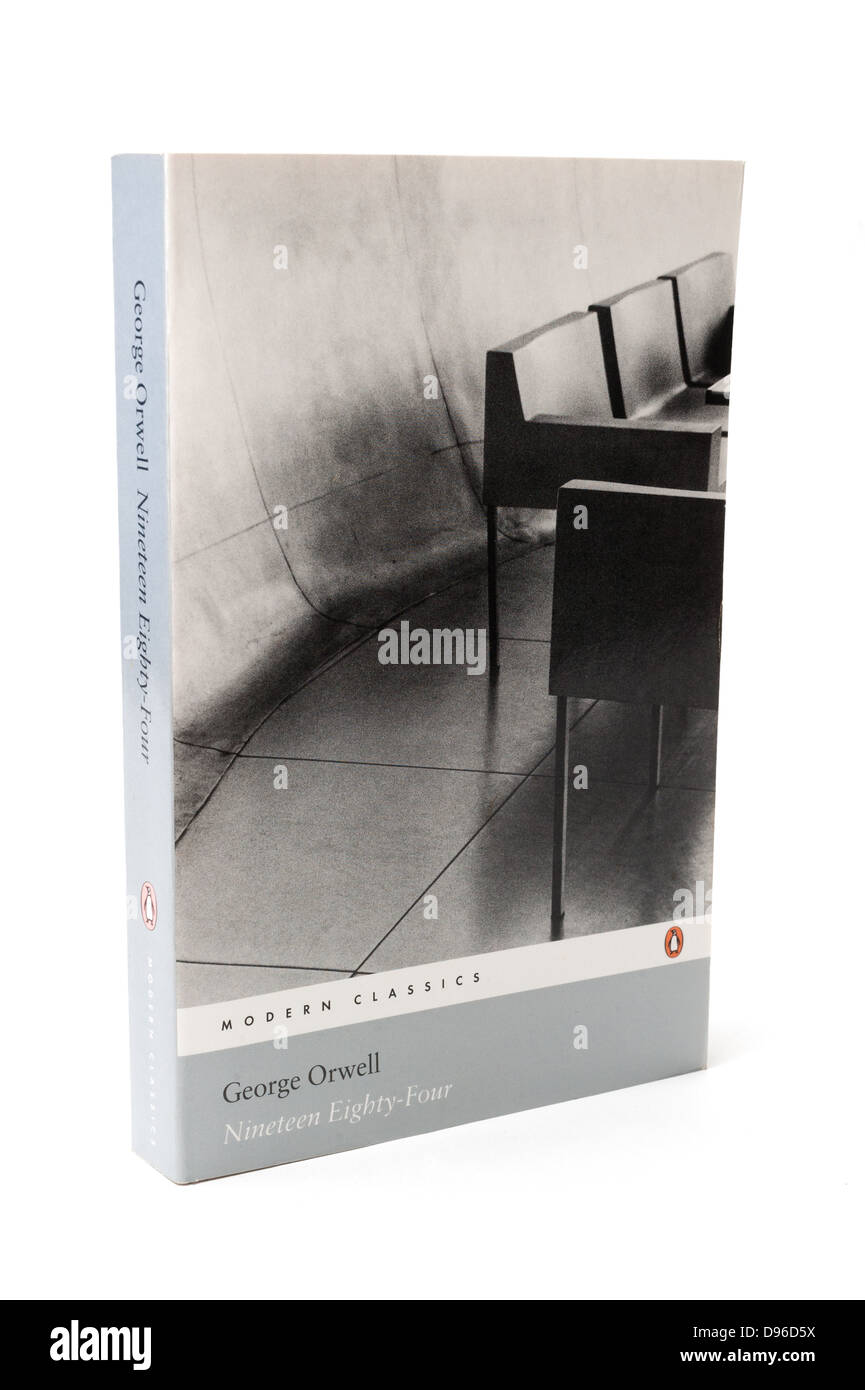 'Nineteen Eighty-Four' is a dystopian novel by George Orwell published in 1949. - Stock Image