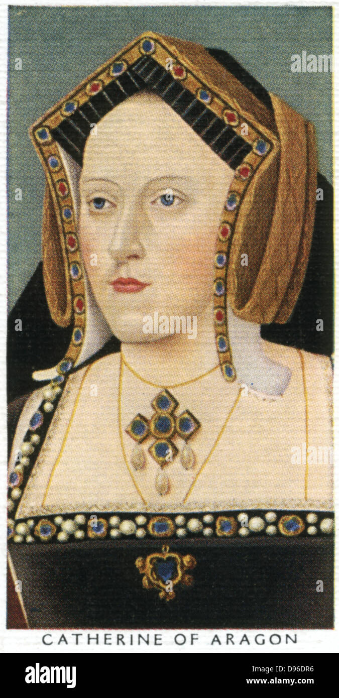 Catherine of Aragon (1485-1536) queen of England, first wife of Henry VIII, mother of Mary I. Marriage annulled - Stock Image