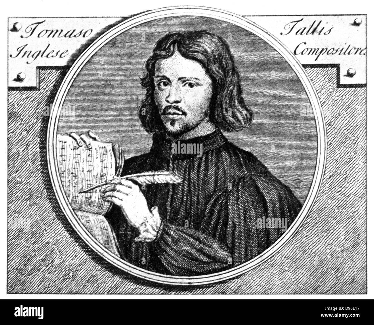 Thomas Tallis (c1505-1585) English composer, organist and music publisher. - Stock Image
