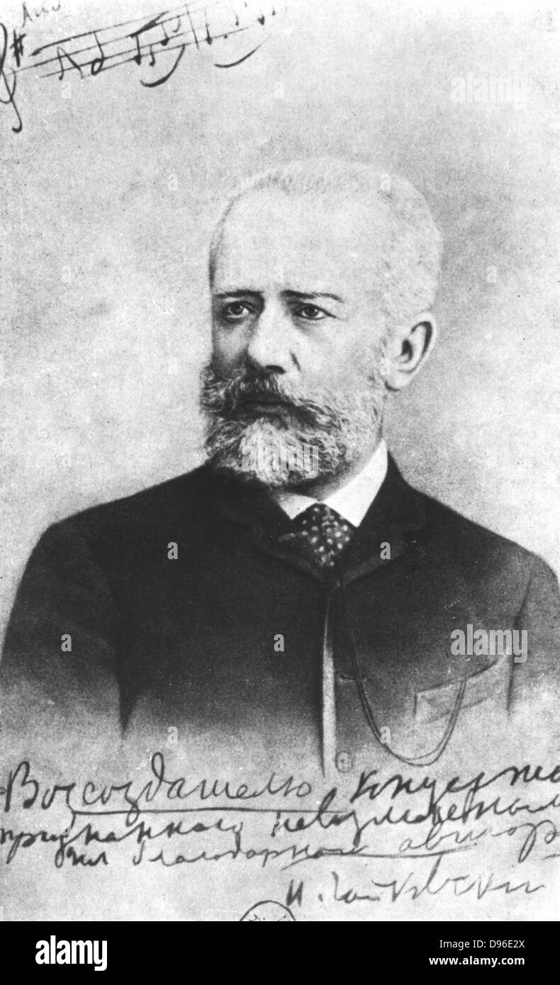 Piotr Ilyich Tchaikovsky (1840-1893) Russian composer. - Stock Image