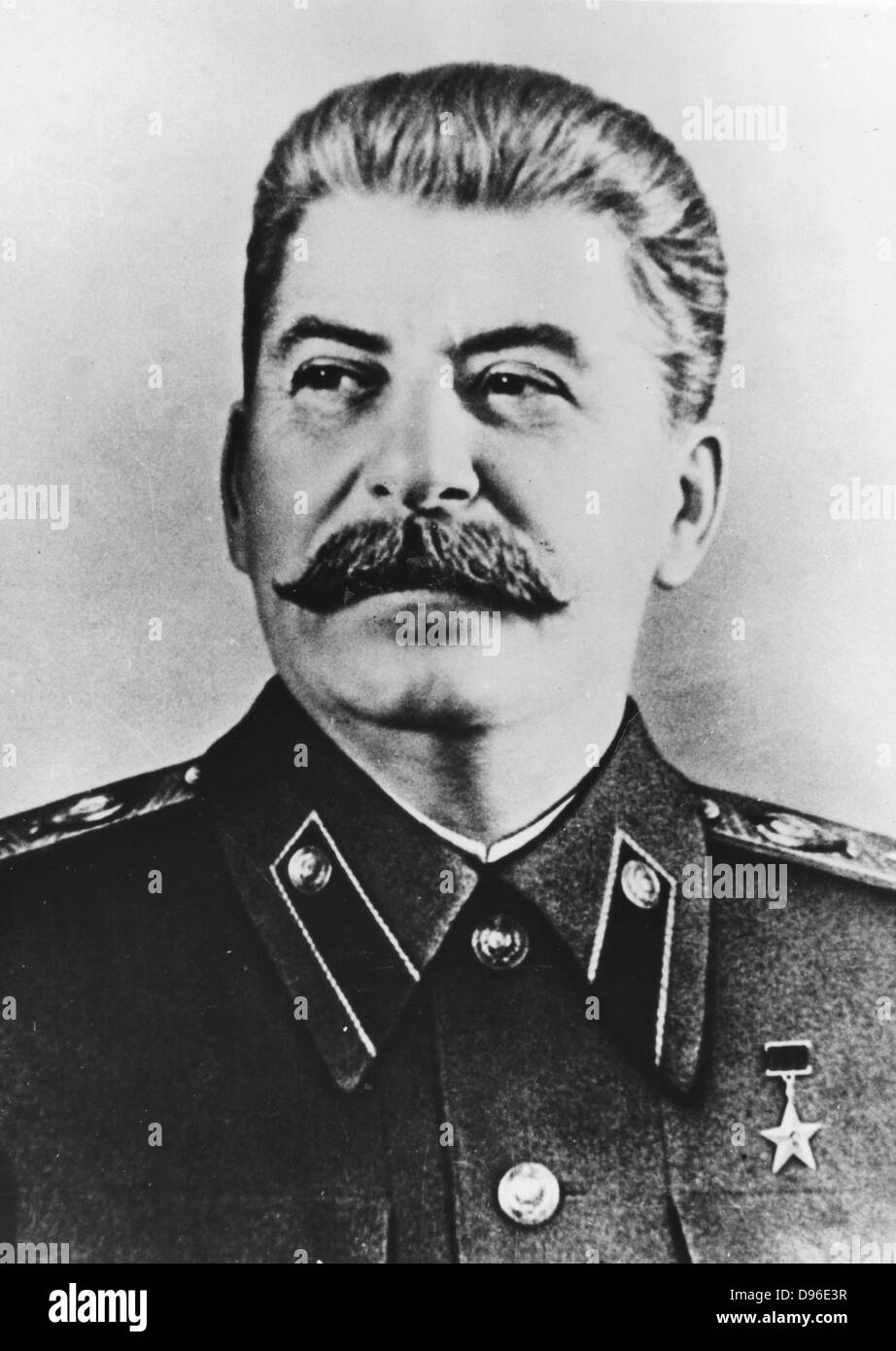 Joseph Stalin (1879-1953) Russian Communist dictator. - Stock Image