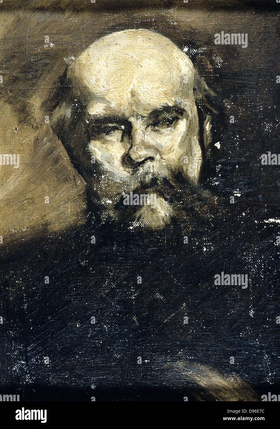 Paul Verlaine (1844-1896) French poet.  Anonymous portrait. - Stock Image