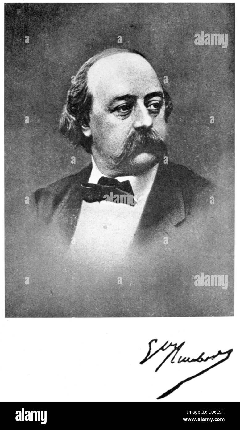 Gustave Flaubert (1821-1880) French Author. - Stock Image