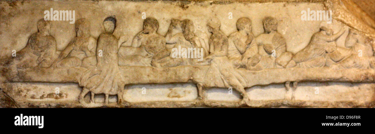 Portion of the Cella Frieze. Greek. - Stock Image