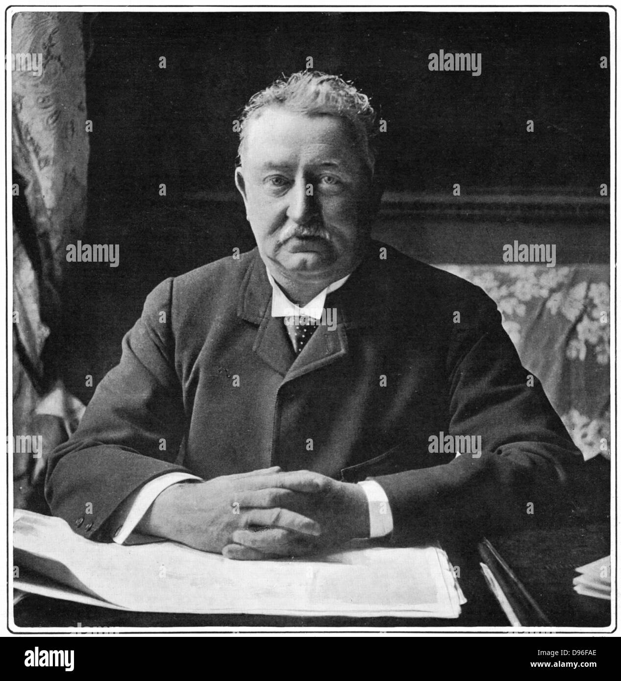 Cecil John Rhodes(1852-1902) English-born South African statesman. Photographic portrait published 1901 - Stock Image