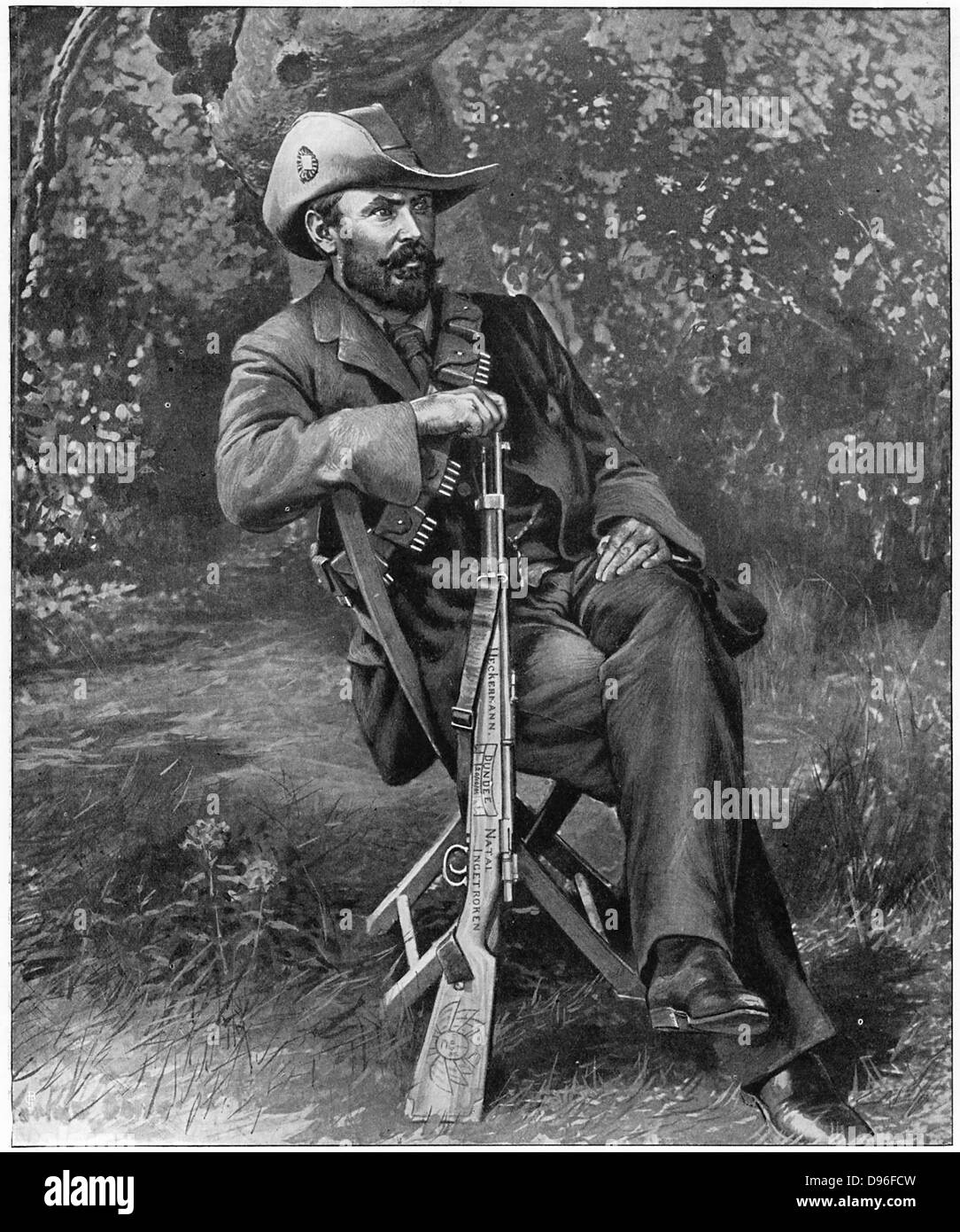 Louis Botha (1862-1919) South African soldier and statesman. Commander-in-chief of Boer forces from 1900 during - Stock Image