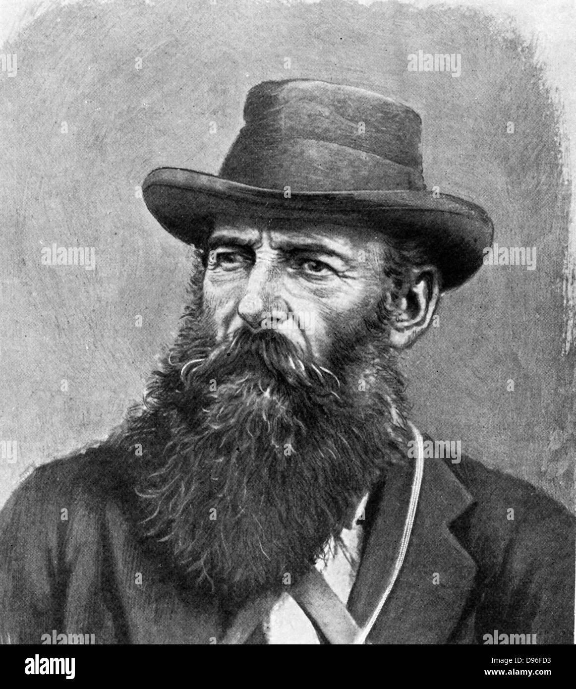 Jacobus Hercules De La Rey (1847-1914) South African statesman and Boer leader.  Assumed charge of operations in - Stock Image