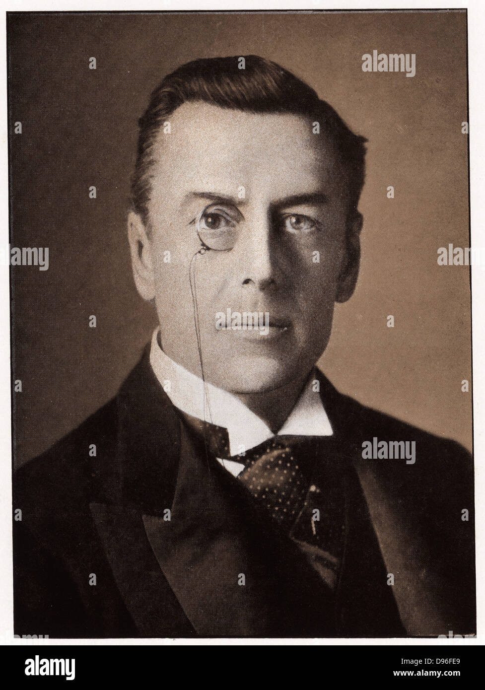 Joseph Chamberlain (1836-1914) British Liberal statesman at the time he was Secretary of State for the Colonies - Stock Image
