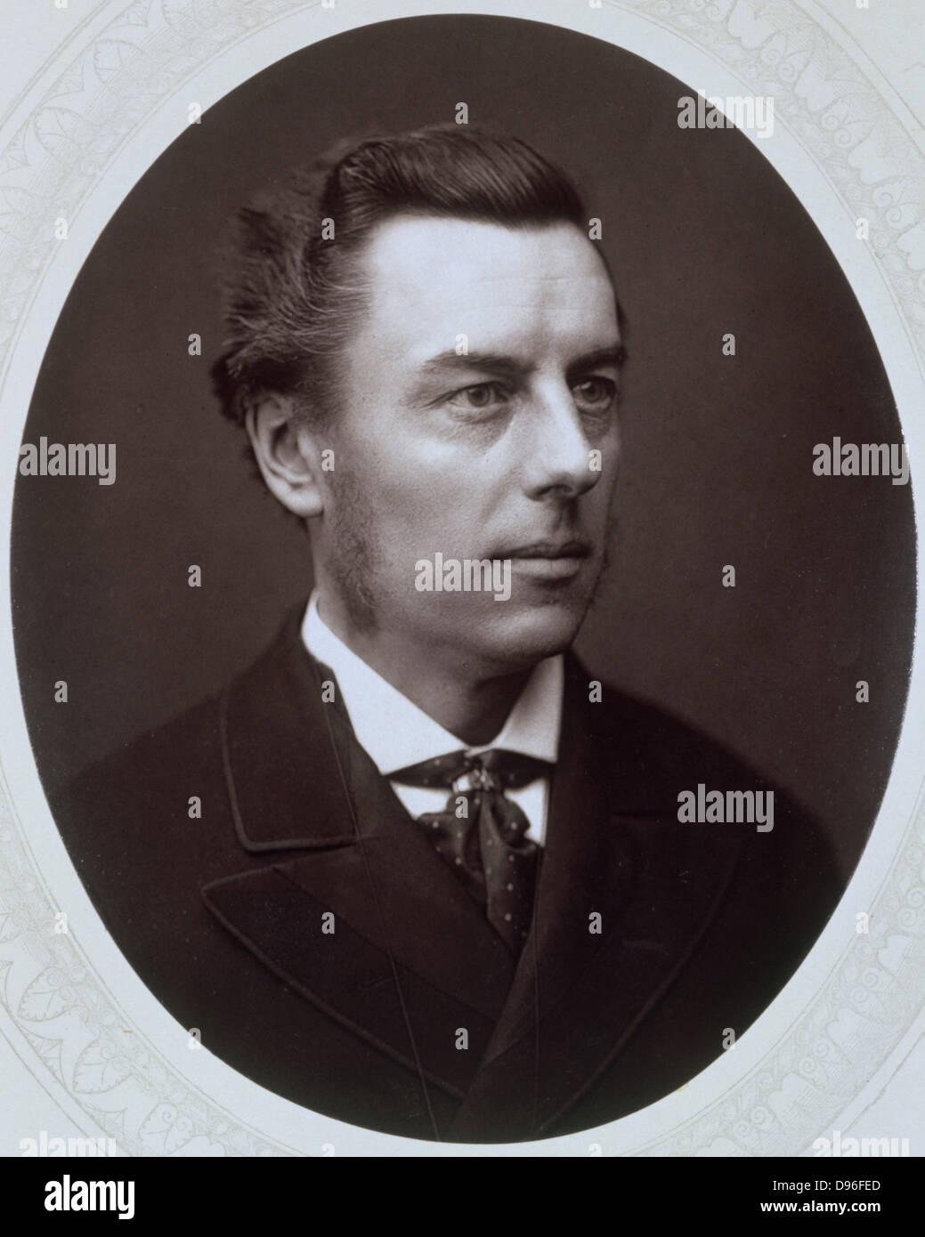 Joseph Chamberlain (1836-1914) British Liberal statesman. Photograph published c1885. Woodburytype Stock Photo