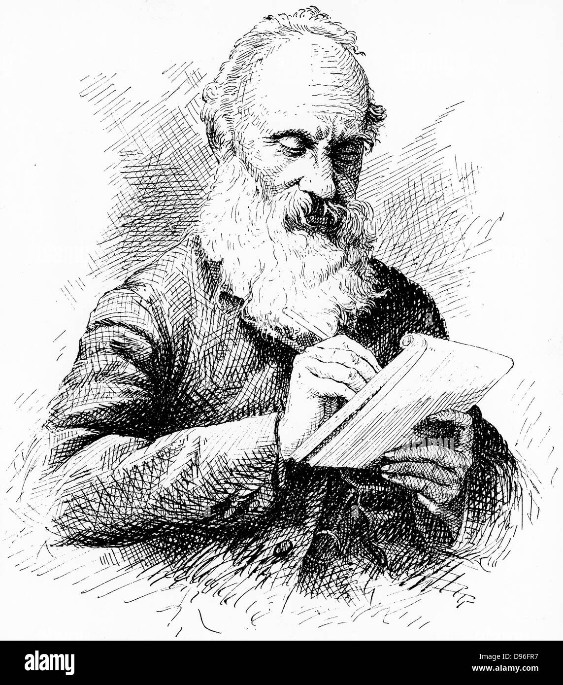 William Thomson, Lord Kelvin (1824-1907), Scottish mathematician and physicist. Engraving published 1906 - Stock Image