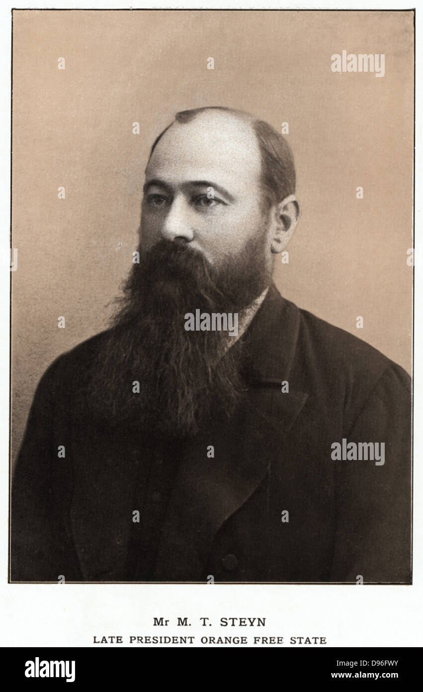 Martinus Theunis Steyn (1857-1916) South African statesman. President or Orange Free State from 1896. Joined with - Stock Image