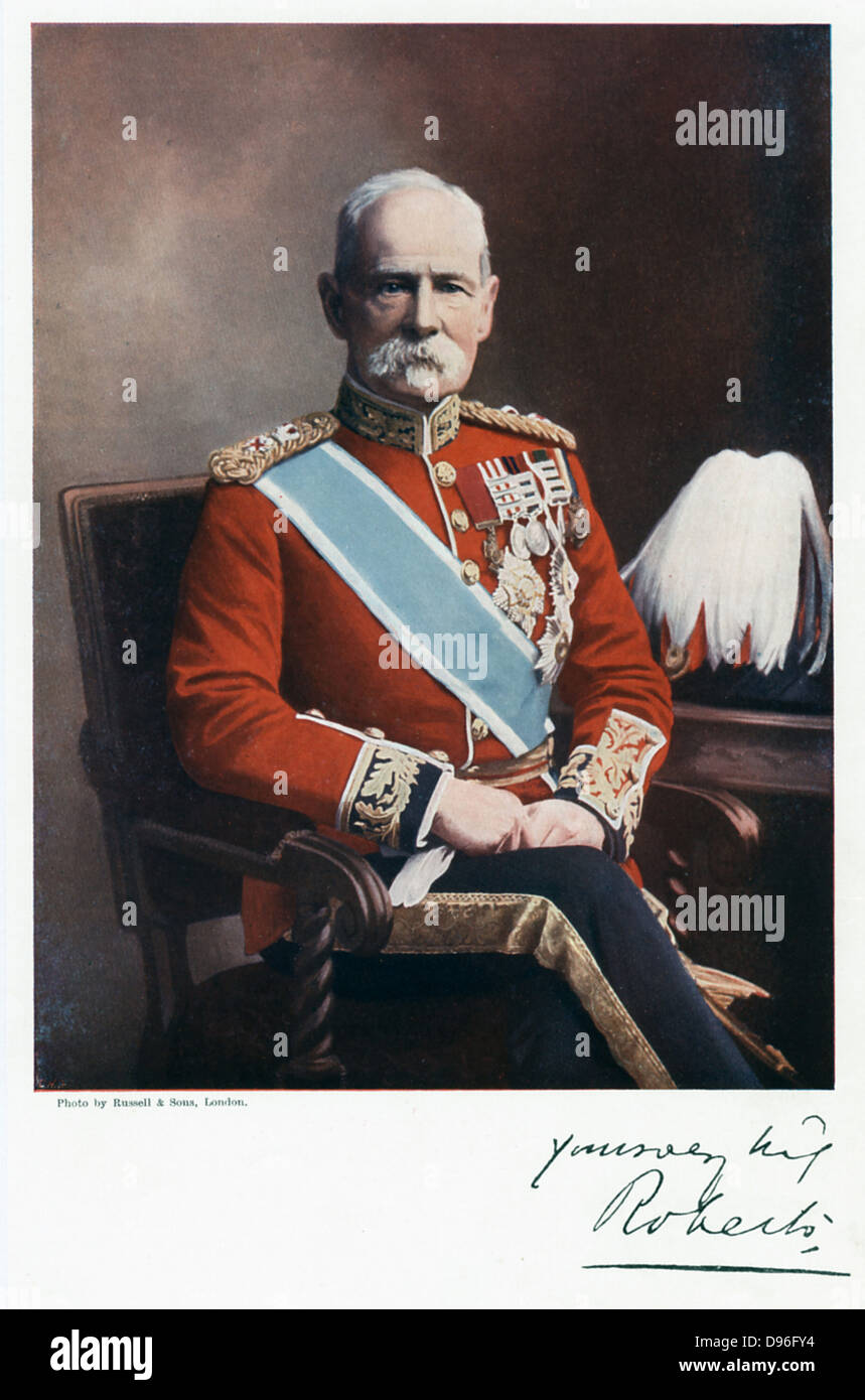 Frederick Sleigh Roberts (1832-1914) English soldier. Field Marshal 1895. - Stock Image