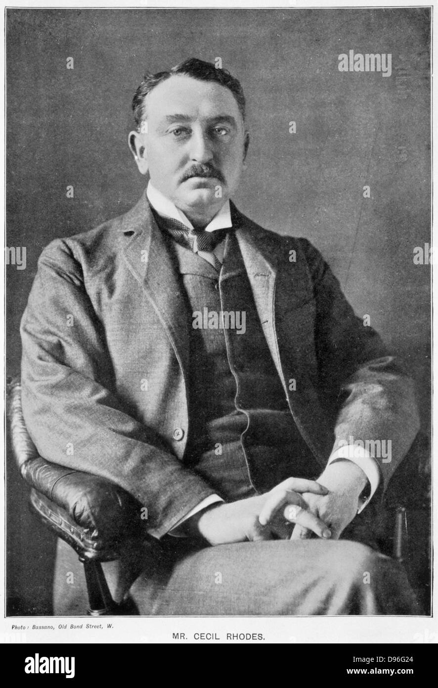 Cecil John Rhodes (1852-1902) English-born South African statesman. Photographic portrait published 1901 - Stock Image