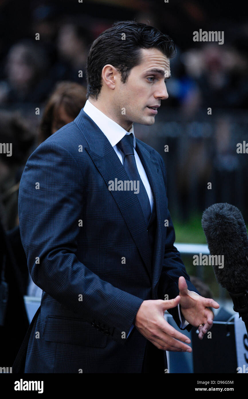 Henry Cavill attends the European premiere for MAN OF STEEL on 12/06/2013 at Empire and Odeon Leicester Square, - Stock Image