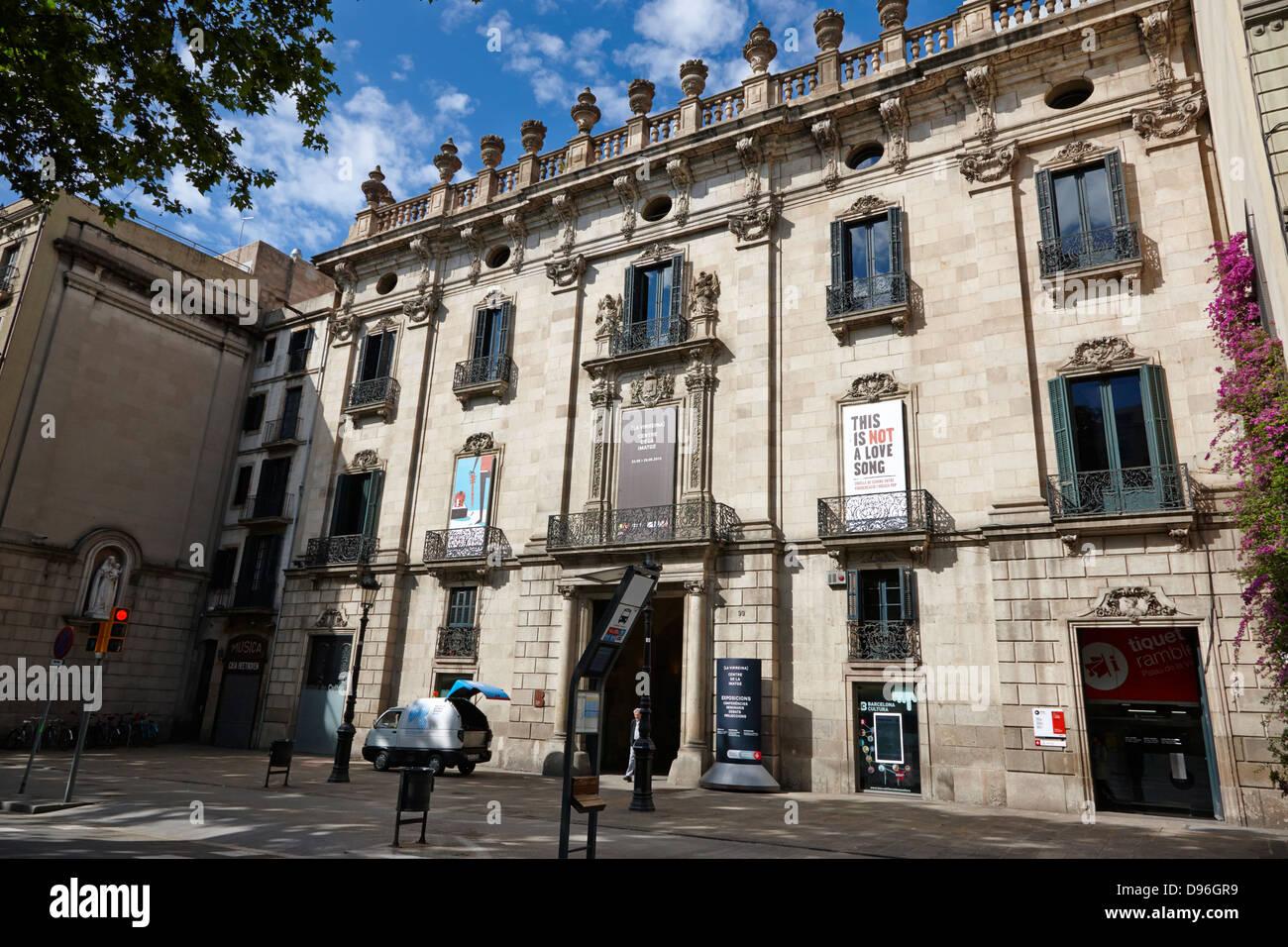 palau de la virreina centre de la imatge la rambla barcelona catalonia spain - Stock Image