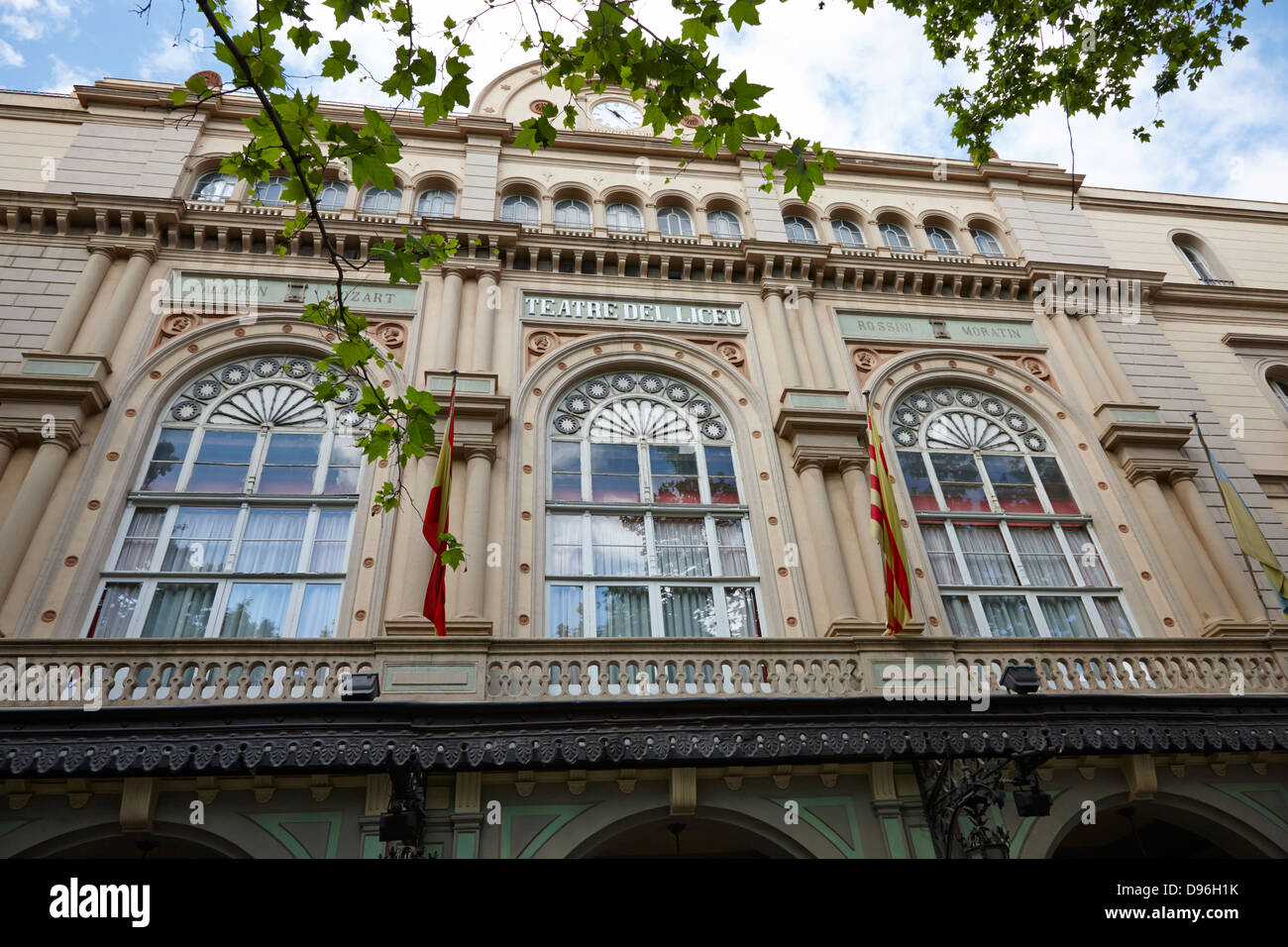 gran teatre del liceu theatre on la rambla barcelona catalonia spain - Stock Image