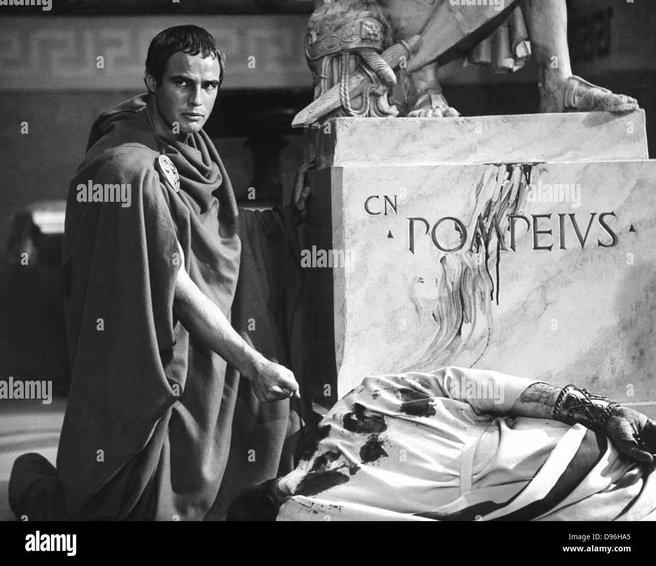 JULIUS CAESAR 1953 MGM film with Marlo Brando as Mark Anthony - Stock Image