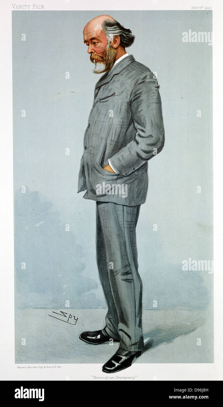 Oliver Lodge (1851-1940) British physicist. Electricity. Wireless telegraphy. Psychical research. 'Spy' - Stock Image