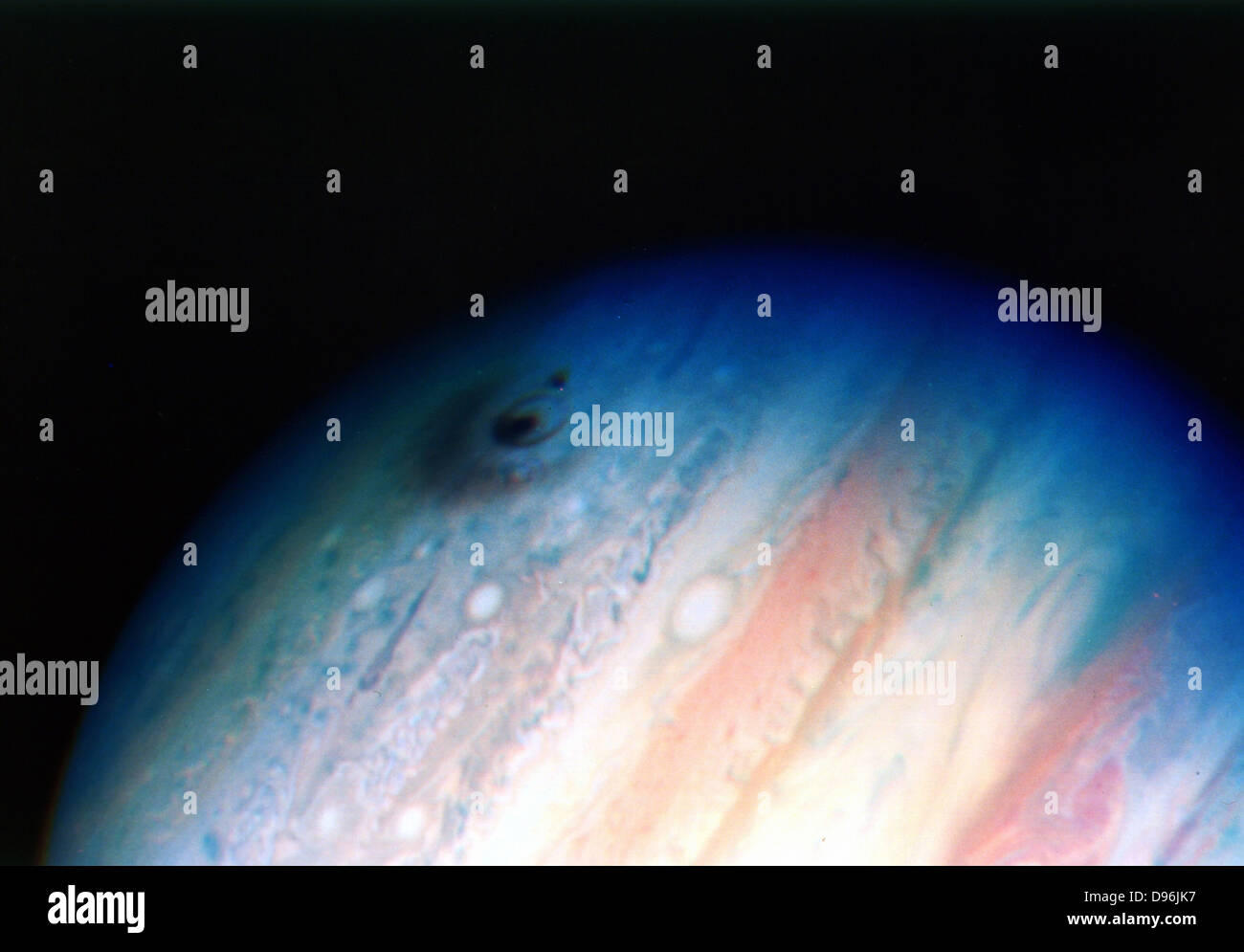 Comet Shoemaker-Levy, 1994. Impact with Jupiter 20 July 1994. NASA photograph. - Stock Image