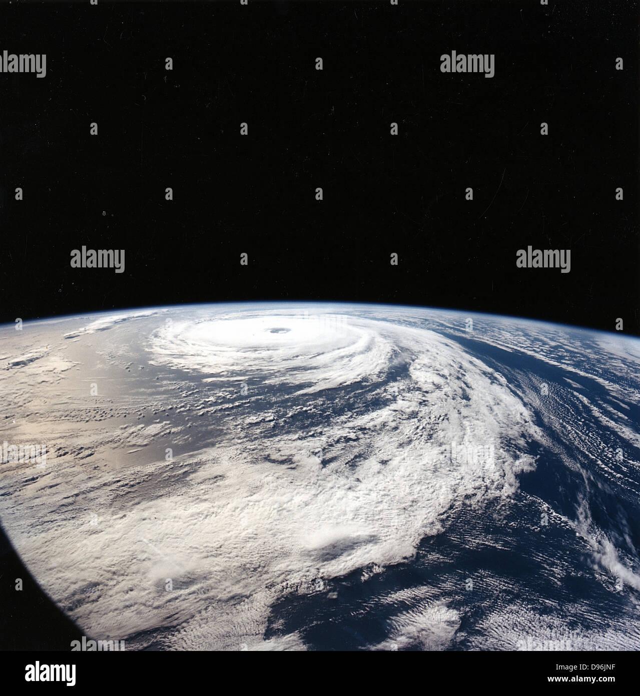 Hurricane 'Florence' taken from Space Shuttle Atlantis from 165n. miles above earth. NASA - Stock Image