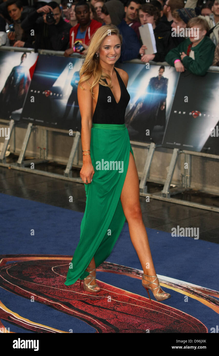 KIMBERLEY GARNER MAN OF STEEL UK PREMIERE LEICESTER SQUARE  LONDON ENGLAND 12 June 2013 - Stock Image