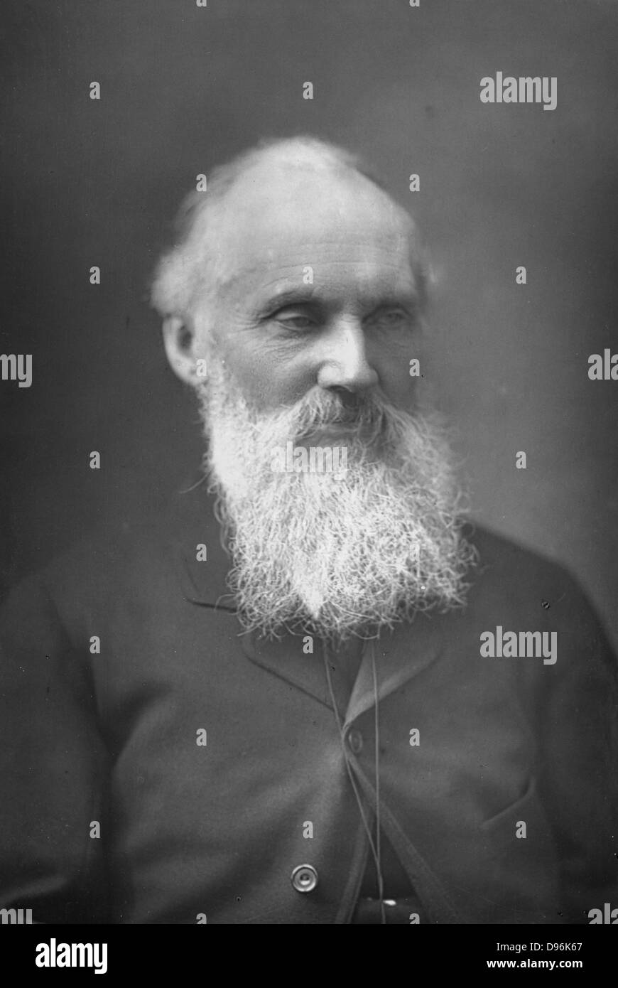William Thomson, Lord Klevin (1824-1907), Scottish mathematician and physicist. Photograph published London c1890. - Stock Image