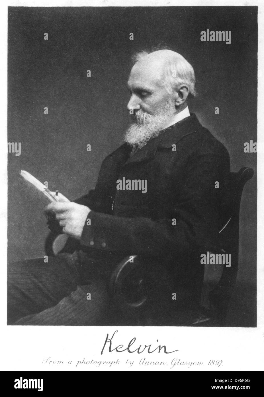 William Thomson, Lord Kelvin (1824-1907), Scottish mathematician and physicist. From photograph taken in 1897 - Stock Image