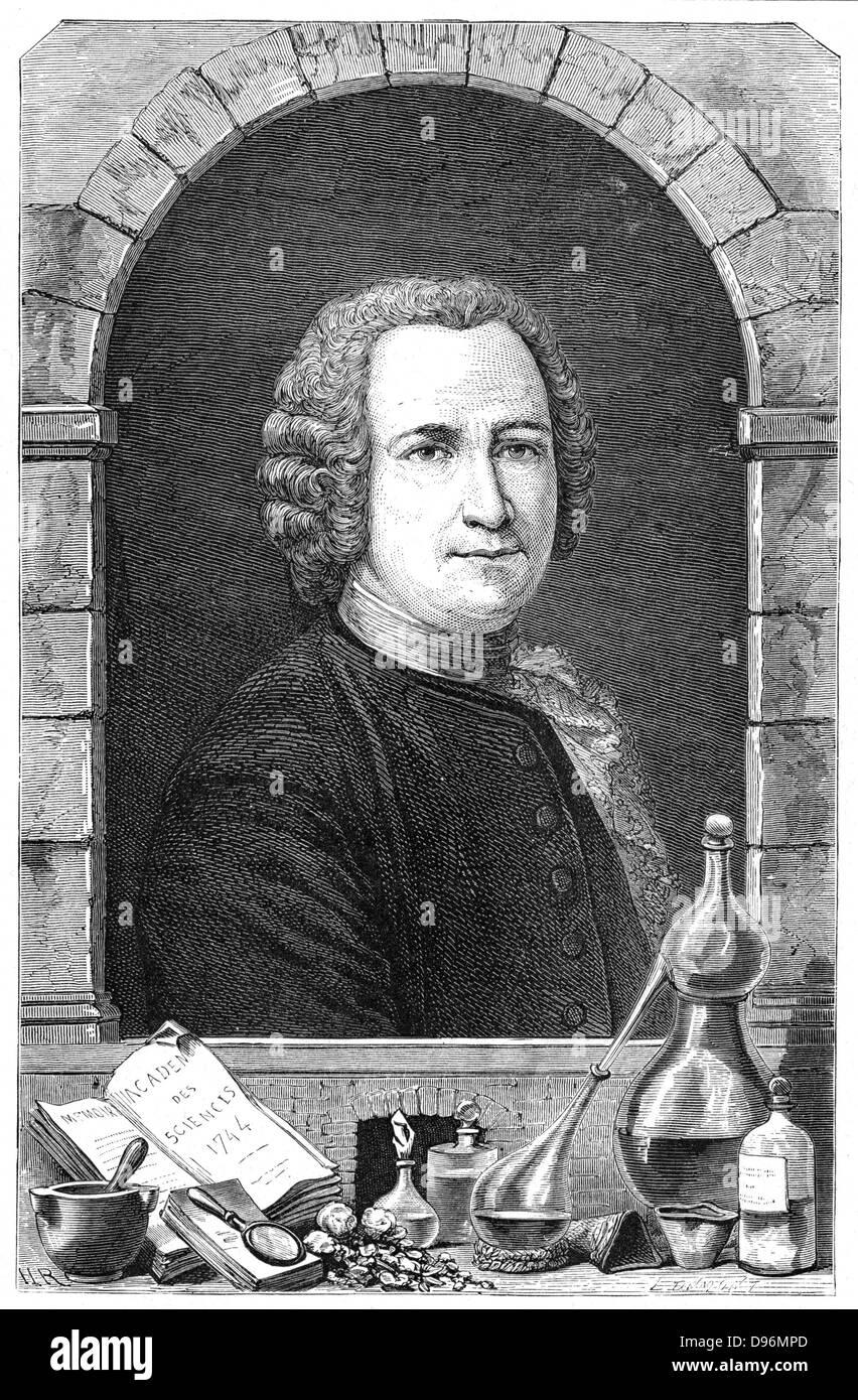 Guillaume Francois Ruelle (1703-70) French chemist, Lavoisier's teacher. Professor (Demonstrateur) at the Jardin - Stock Image