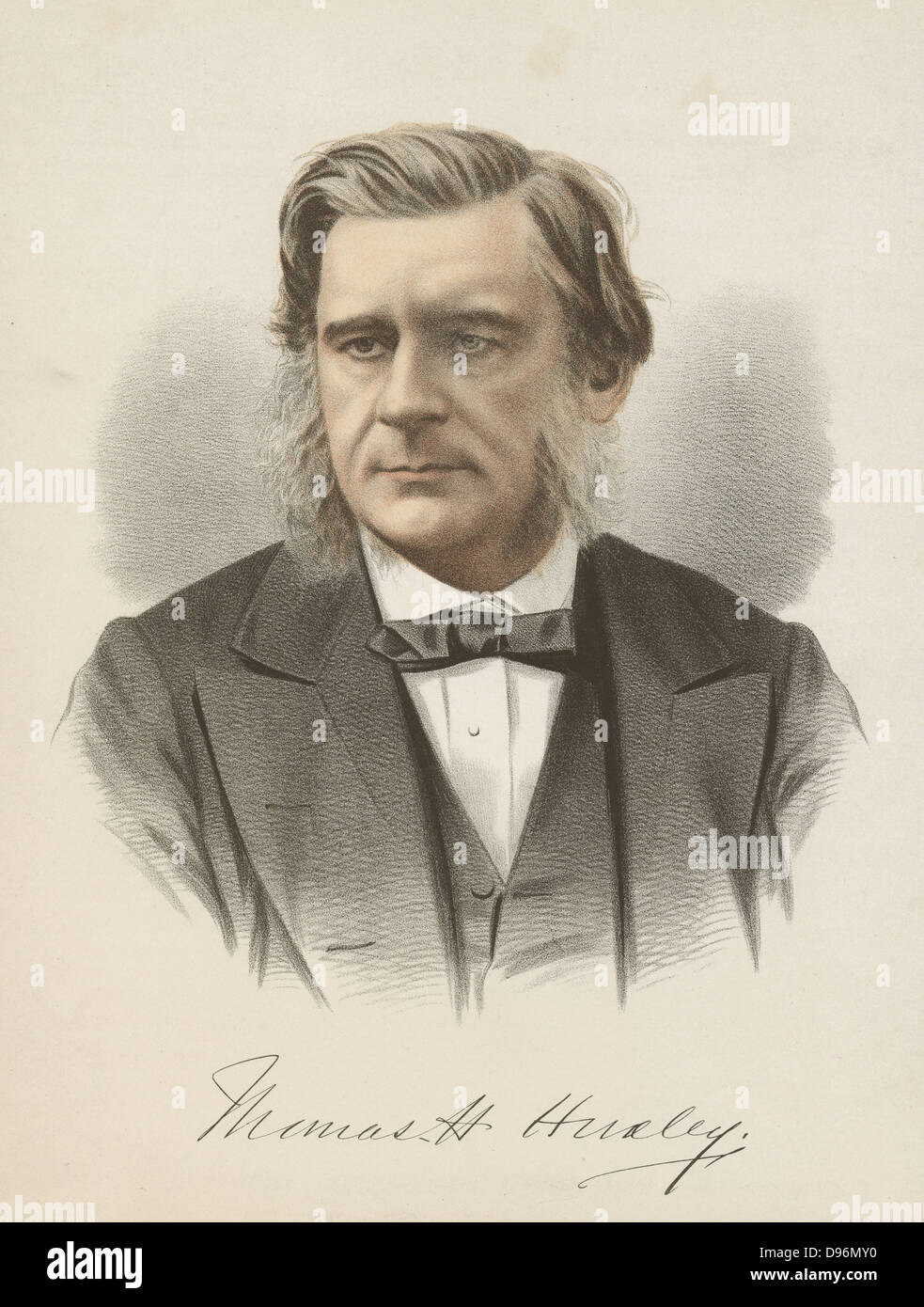 Thomas Henry Huxley (1825-1895) British biologist, champion of Darwin. From 'The National Portrait Gallery', - Stock Image