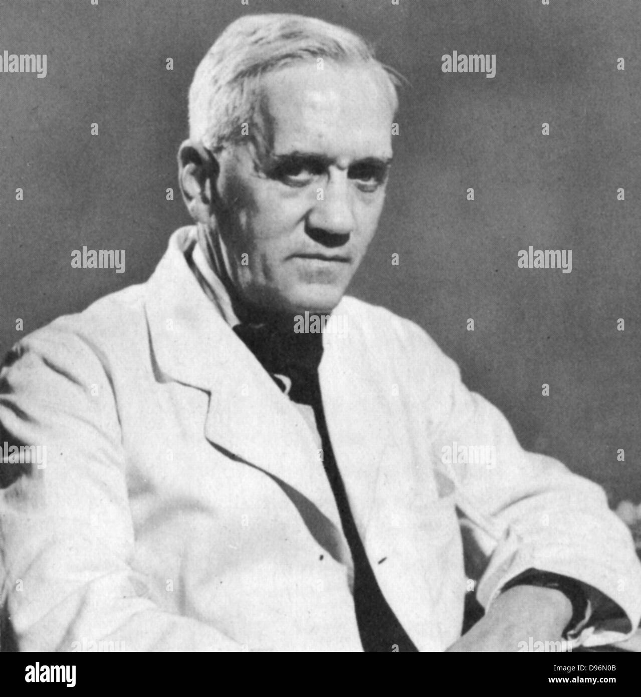 Alexander Fleming (1881-1955) Scottish bacteriologist and surgeon. Discovered penicillin 1928. Shared Nobel prize - Stock Image