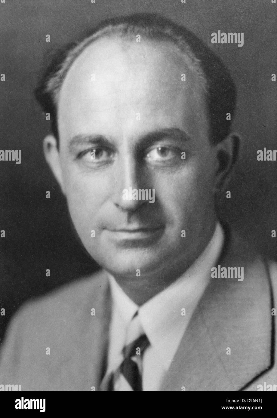 Enrico Fermi (1901-1954) Italian-born American physicist. Atomic energy. Awarded Nobel prize for physics. - Stock Image