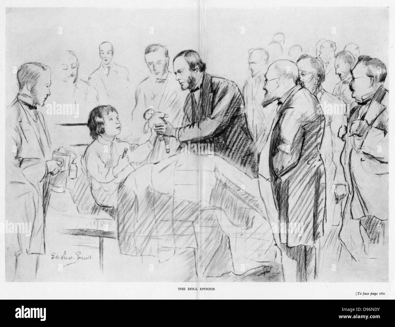 Joseph Lister (1827-1912), English surgeon, on his ward round in Glasgow Royal Infirmary c1867. A pioneer of antiseptic Stock Photo
