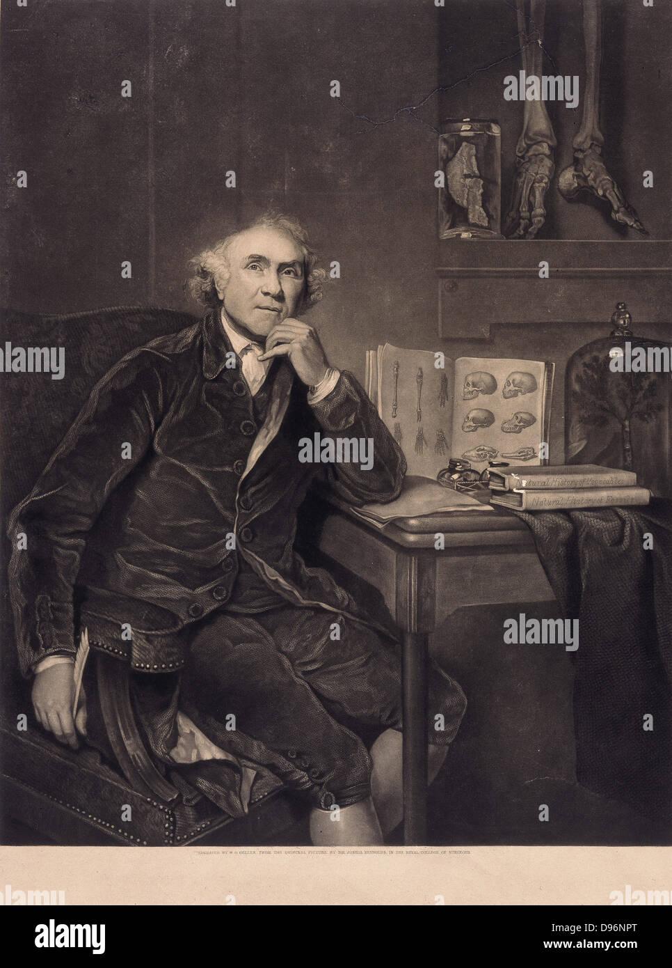 John Hunter (1728-1793) Scottish anatomist, physiologist and surgeon who applied scientific method to medicine. - Stock Image
