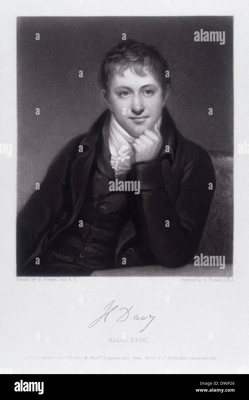 Humphry Davy 1778 1829 British Chemist Inventor Of Safety Lamp