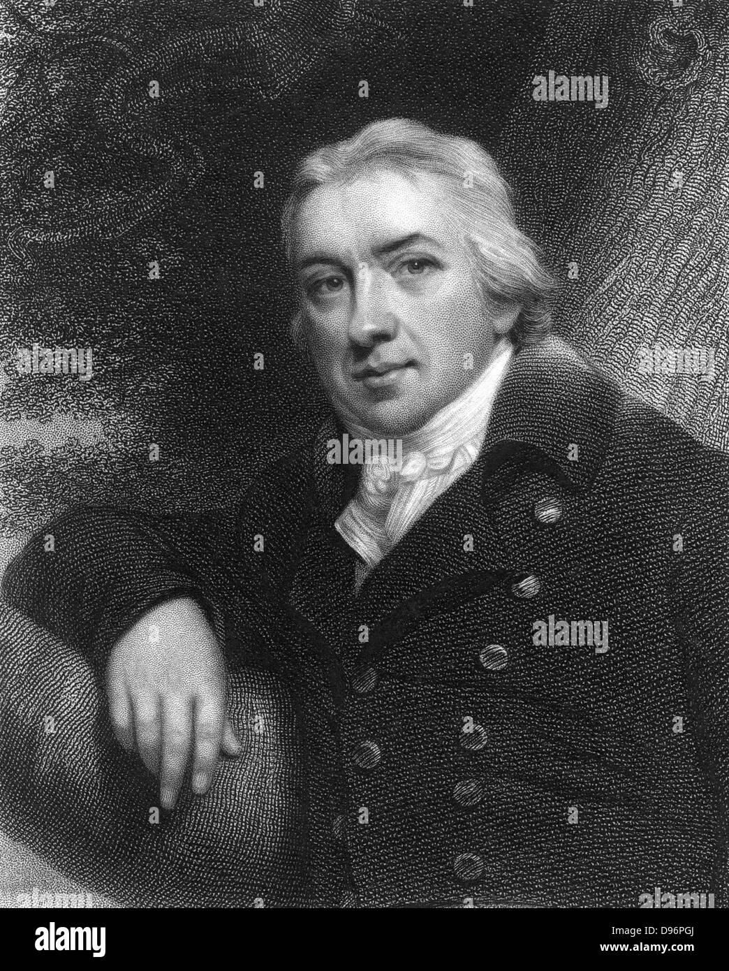 Edward Jenner (1749-1823) English physician.  Jenner practiced as a country doctor in his native Gloucestershire. - Stock Image