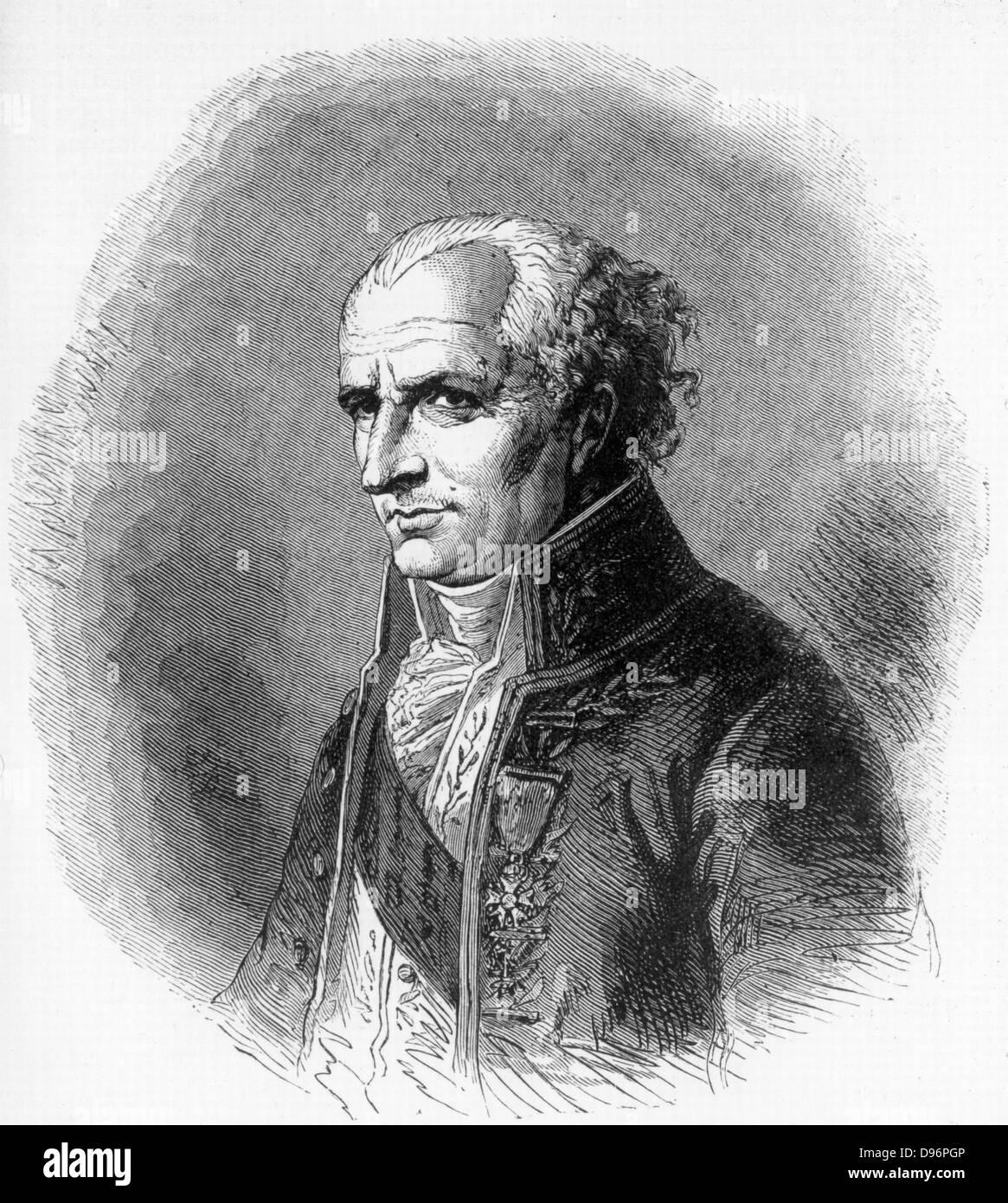 Antoine-Laurent Jussieu (1748-1836), French botanist born in Lyon .Nephew of the botanist Bernard de Jussieu.  He - Stock Image